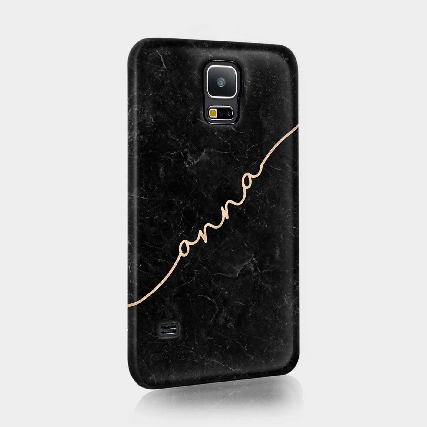 Personalised-Marble-Glitter-Copper-Gold-Handwrite-Custom-Case-Samsung-Mini-Ace