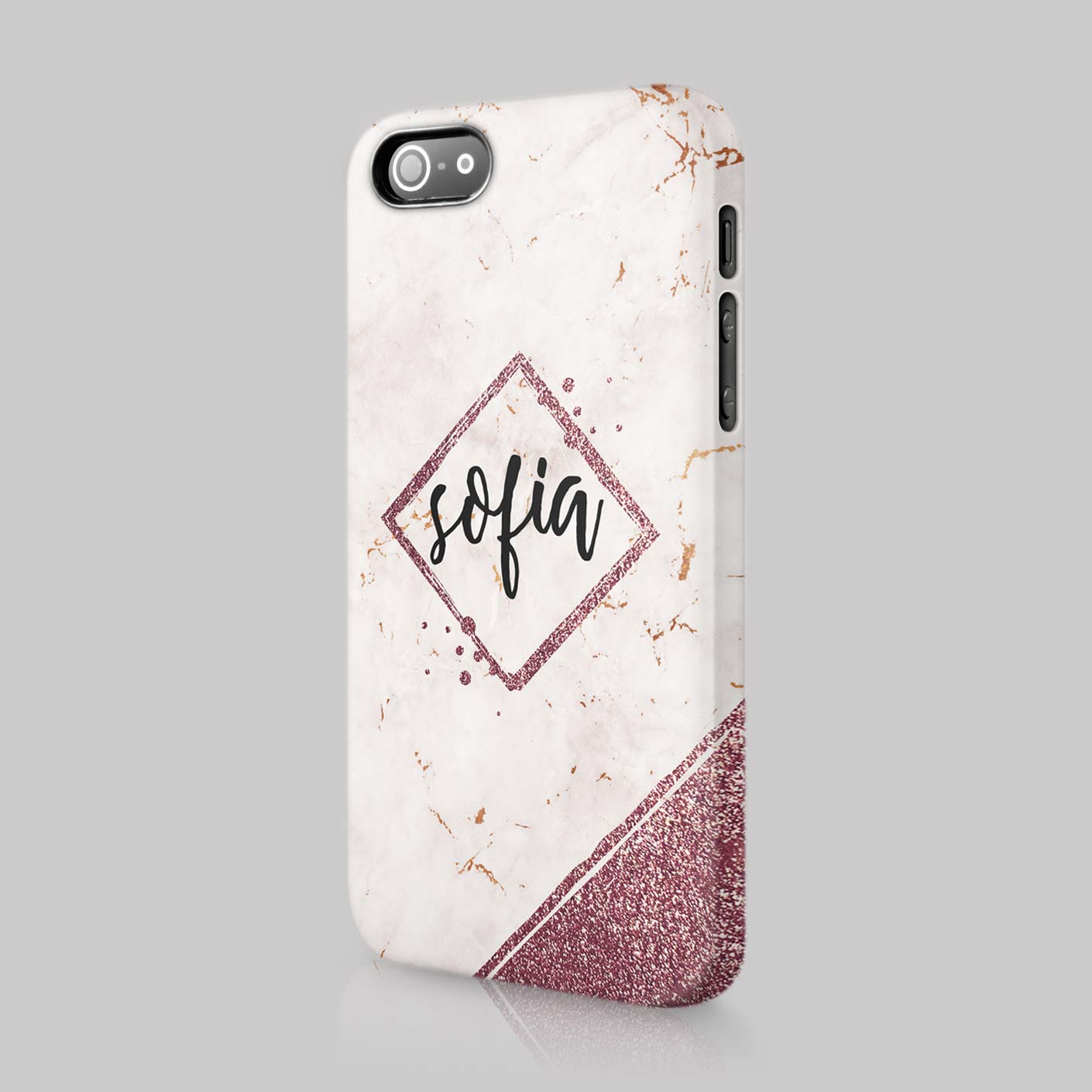 iphone 6 personalised marble case