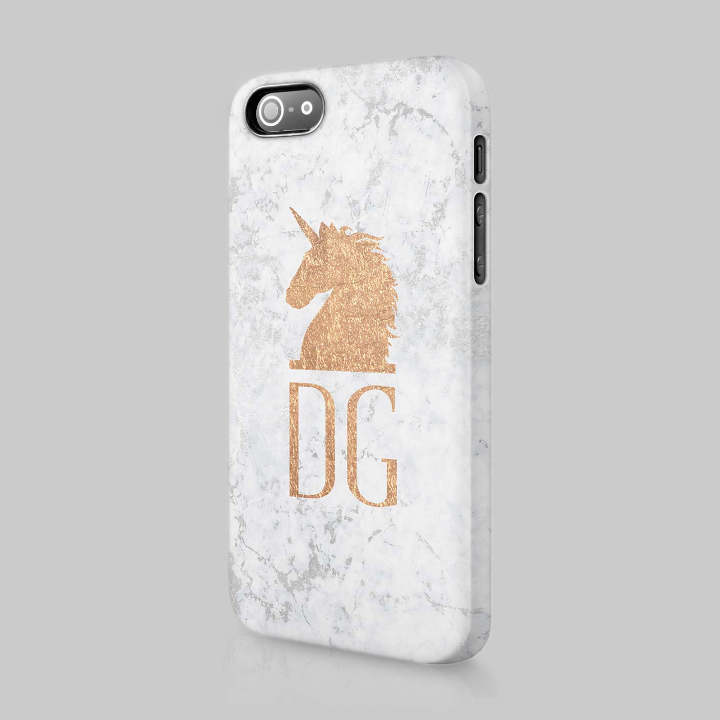 Marble Iphone Case With Initials