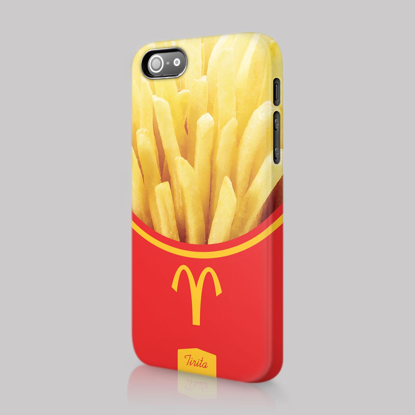 ... Fast Food Burger Fries Case Hard Cover For iPhone 4 5 6 7 u0026 SE : eBay