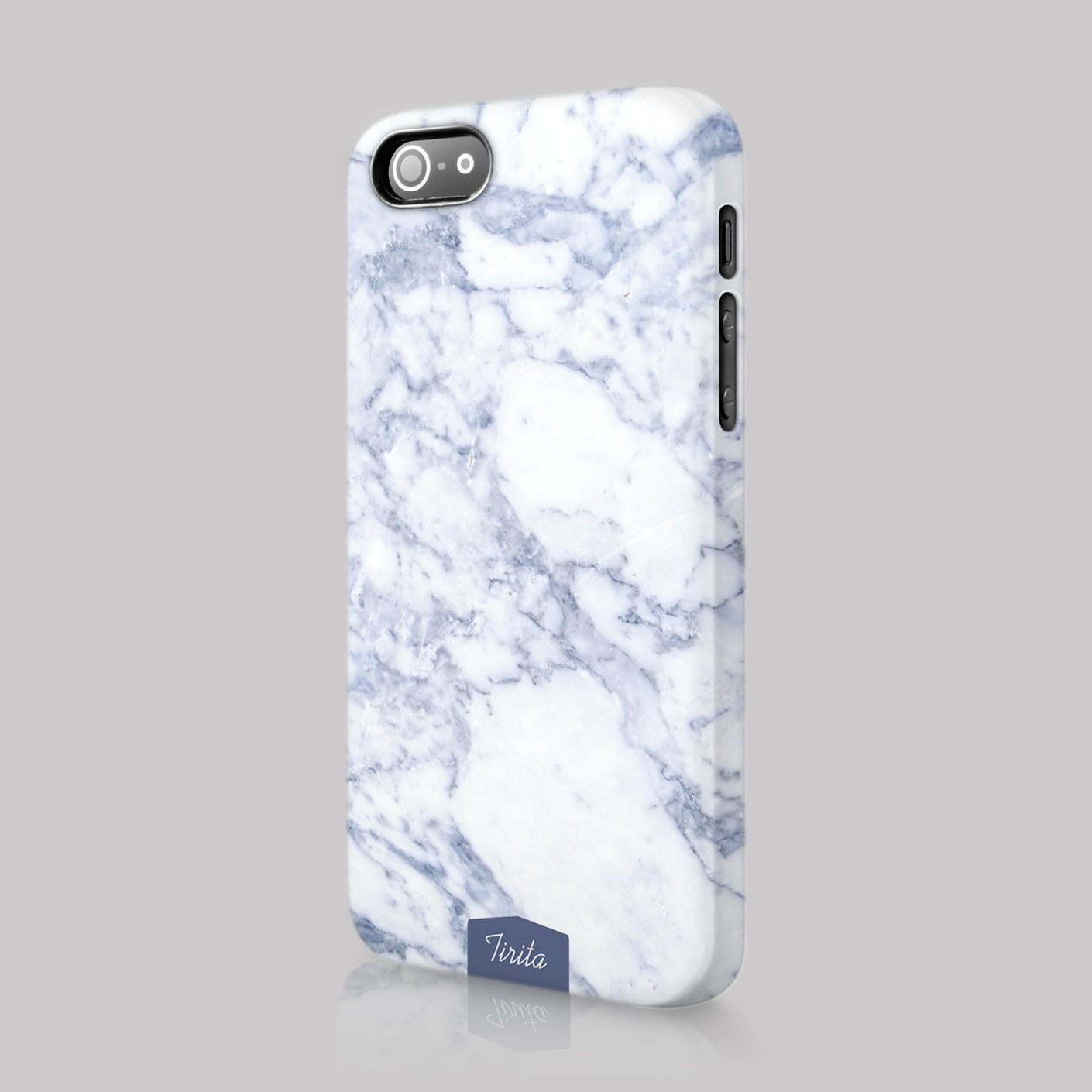 Tirita Marble Effect Look Alike Rock Pattern Case Hard Cover For Iphone