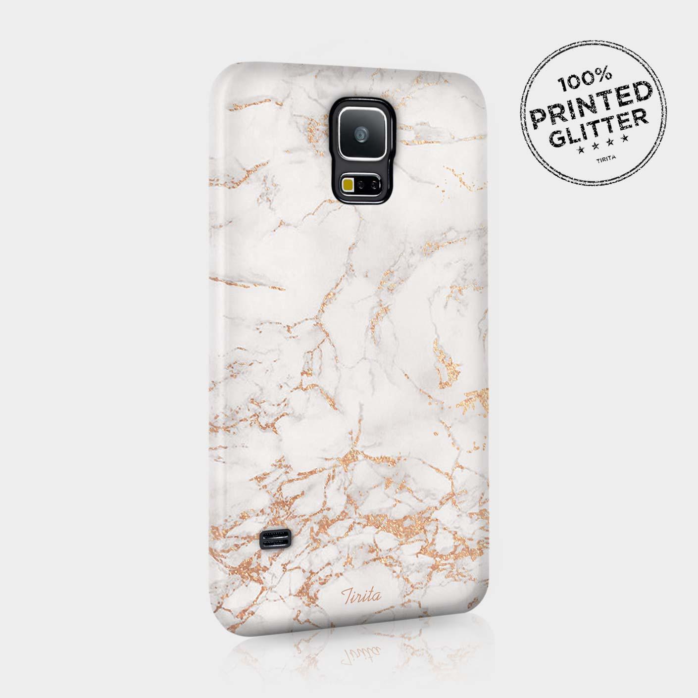 tirita rose gold marble glitter cute phone case hard cover for samsung