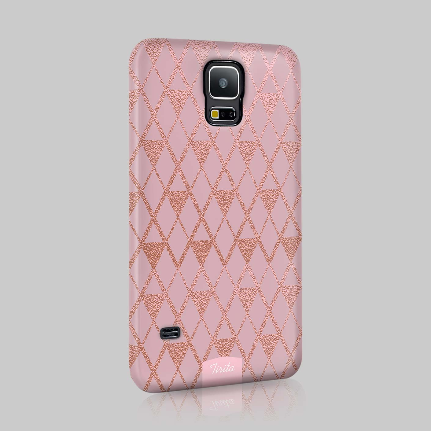 Tirita Metallic Golden Silver Glitter Effect Phone Case ...