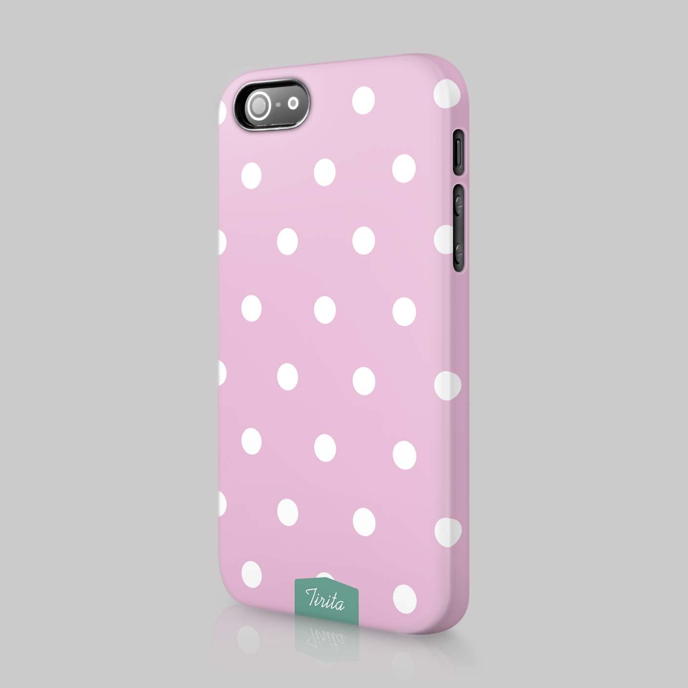 Tirita Polka Dots Fashion Case Hard Cover For Iphone