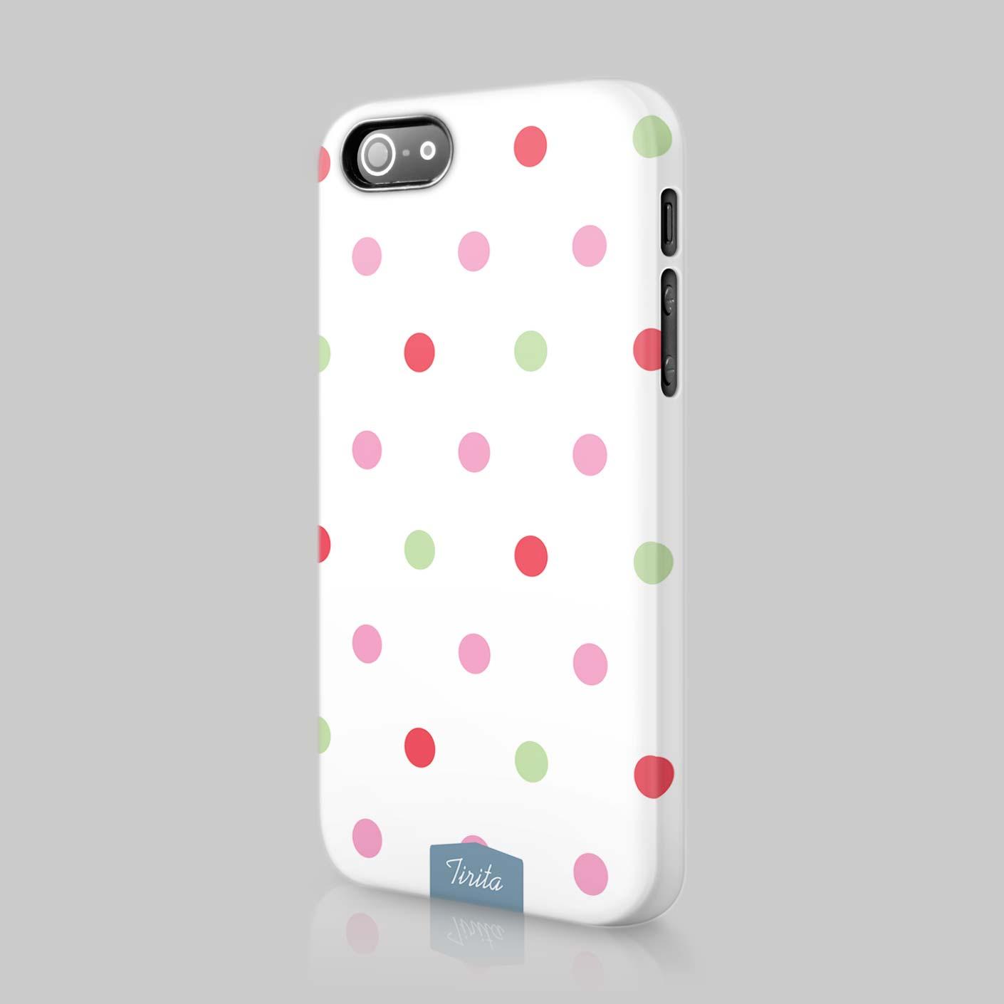 Tirita Polka Dots Fashion Case Hard Cover For iPhone 4 5 6 ...
