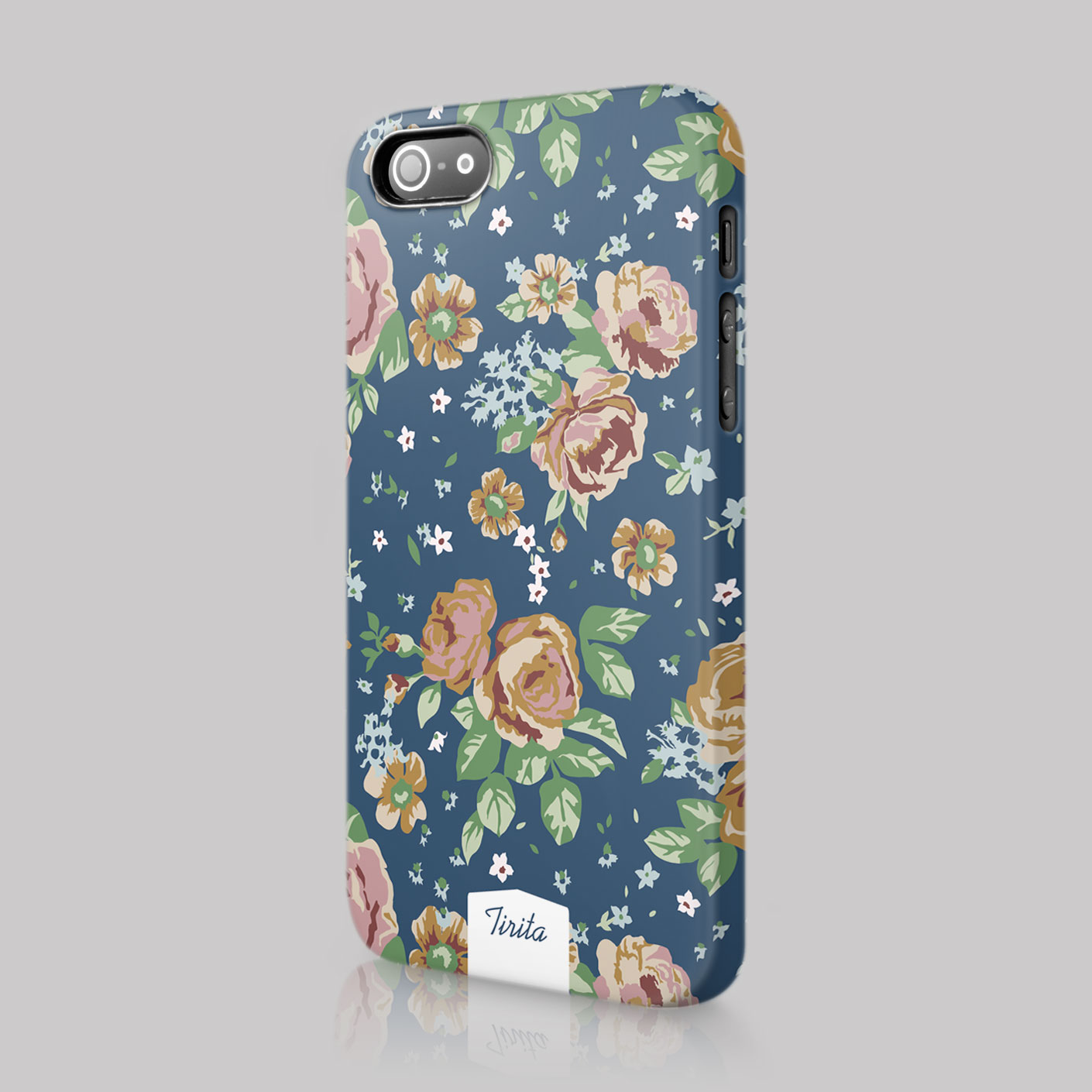 Tirita shabby chic vintage cute floral case hard cover for for Grove iphone 4 case