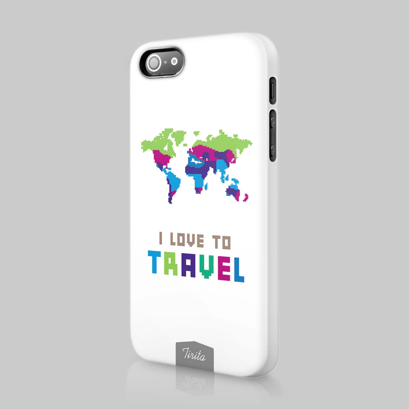 Tirita World Travel Map Planes Passport Phone Case Hard Cover For - Maps of planes shipping goods us to brazil