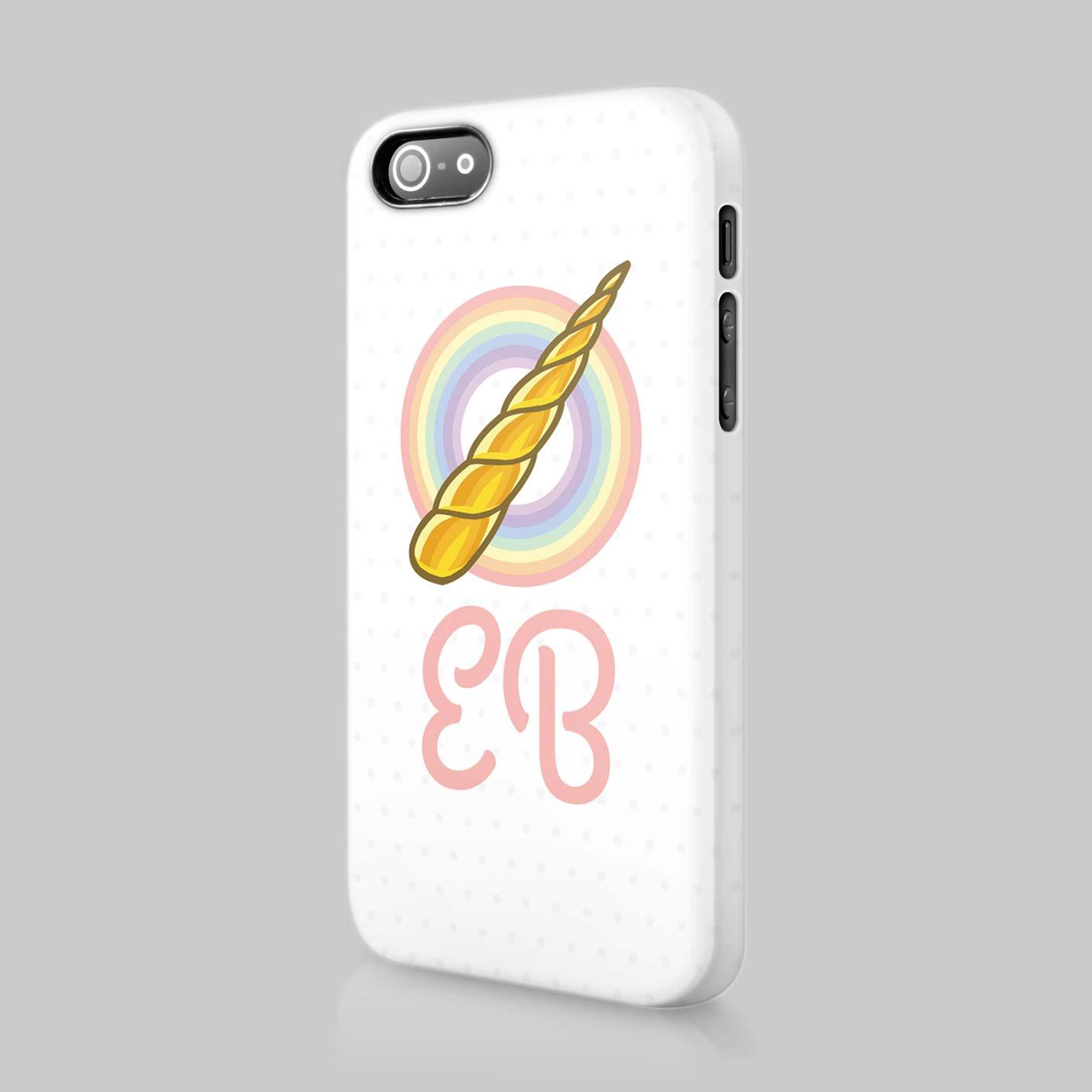 Personalised Unicorn Rainbow Cute Initials Custom Phone Case Cover For Iphone  eBay
